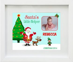 Personalised Santa's Little Helper Print Design 2
